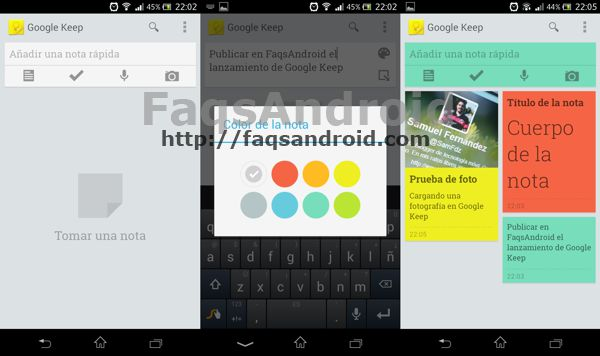 Capturas Google Keep