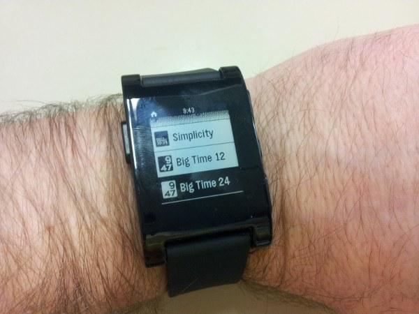 El reloj Pebble
