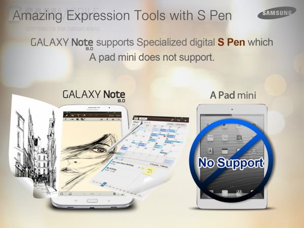 S Pen Samsung Galaxy Note 8 iPad mini