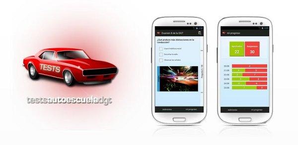 Recopilatorio con aplicaciones de test de conducir para android