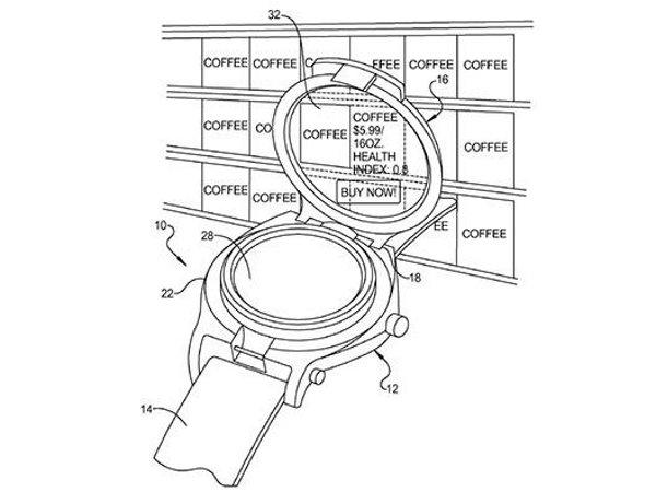 Patente de Google para un reloj inteligente de doble pantalla