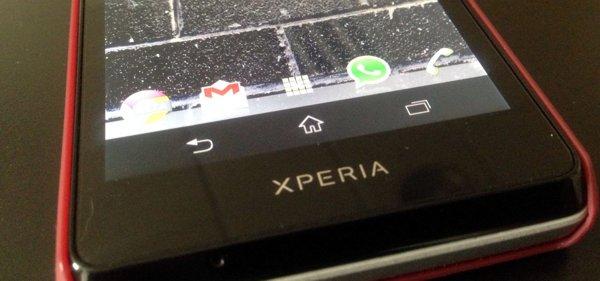 Barra de botones Android en el Sony Xperia T