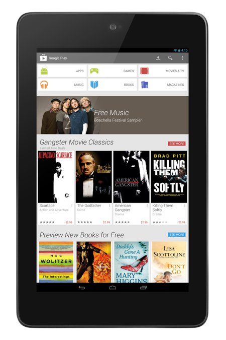 Google Play Store 4 en tablets