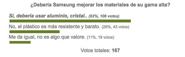 Los usuarios opinan que Samsung debería mejorar sus materiales