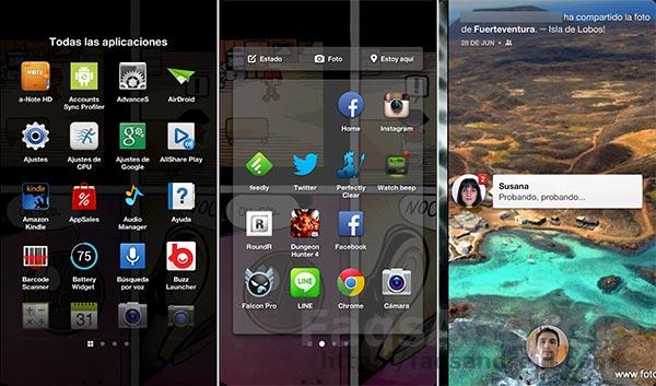 La aplicación Android de Facebook Home está disponible en España