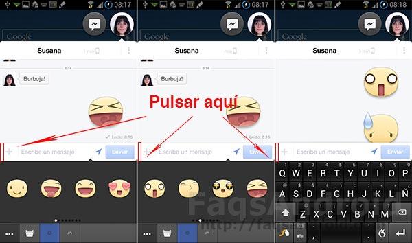 Stickers en Facebook Messenger