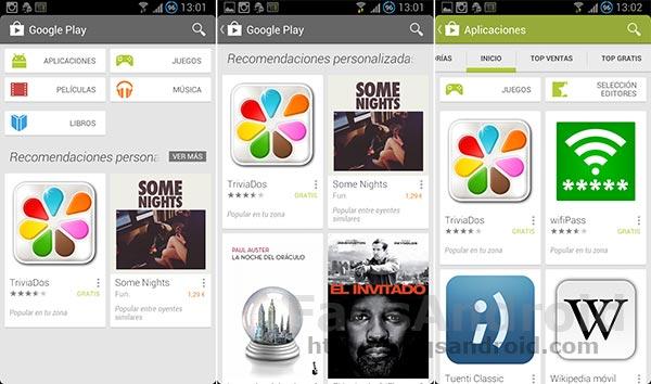 La Google Play Store 4.0 ya está activa en España