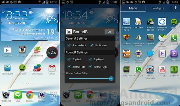 RoundR, una aplicación para la pantalla que redondea las esquinas
