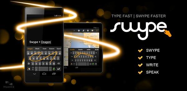 Swype sale de beta y aterriza en la Google Play Store