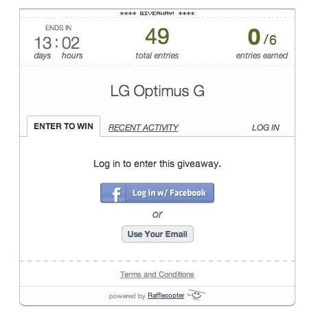 Sorteo de un móvil Android LG Optimus G en FAQsAndroid
