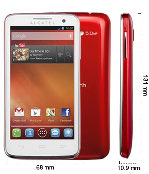 Alcatel One Touch XPop medidas rojo
