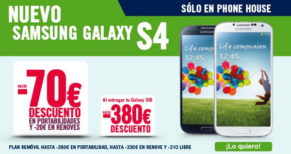 Galaxy S4 en The Phone House