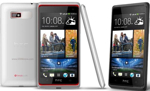 HTC Desire 600 frontal blanco y negro