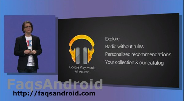 Opciones Google Music All Access