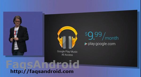 Precio de Google Music All Access