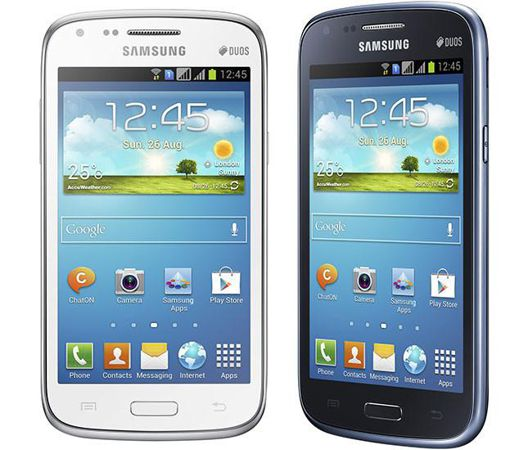 Samsung Galaxy Core azul y blanco