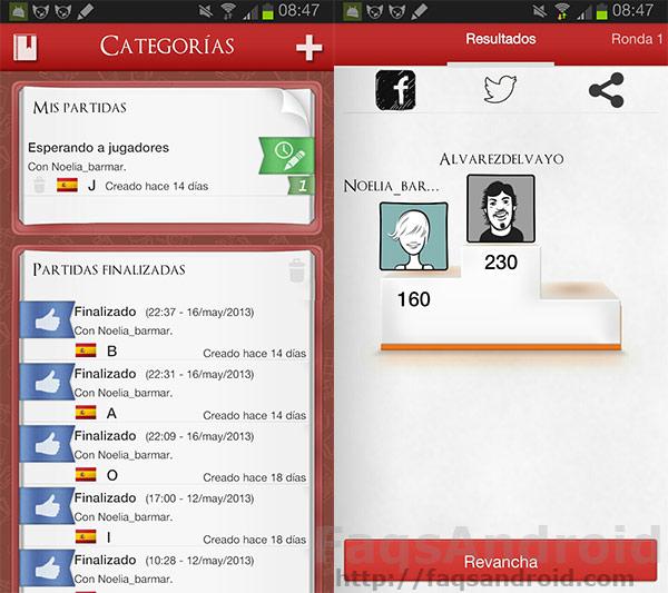 Cómo se juega a categorías: Scattergories para Android