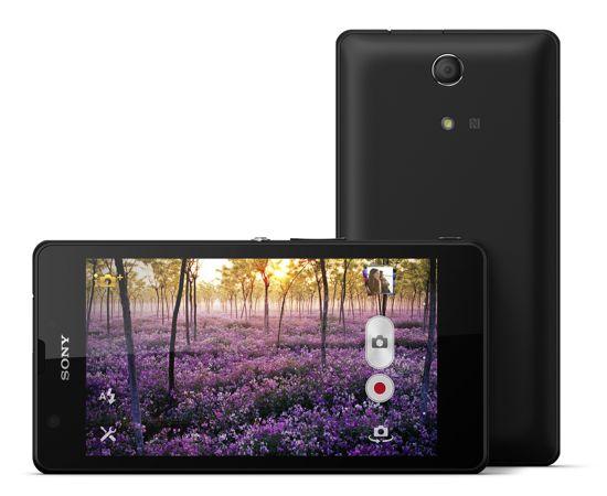 Sony Xperia ZR Negro tumbado