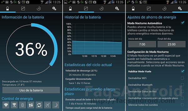 5 aplicaciones de gestión de batería: Battery Widget Reborn