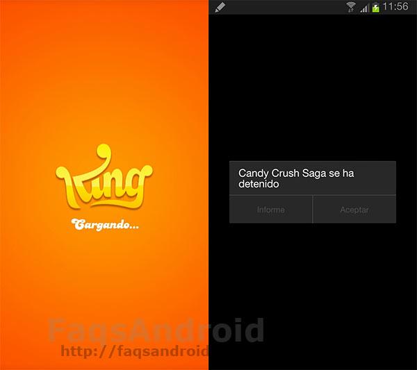 Candy Crush para Android no funciona con la última actualización
