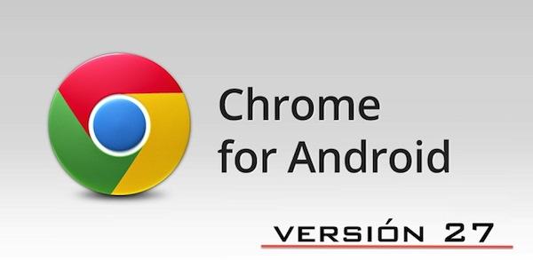 Actualización de Chrome para Android