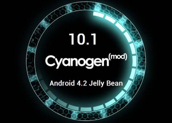 Imagen del arranque de la versión 10.1 de cyanogenmod