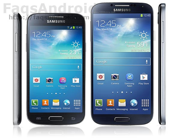 Tabla comparativa entre el Samsung Galaxy S4 Mini vs Galaxy S4