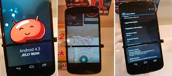 Se filtran imágenes de un Nexus 4 ejecutando Android Jelly bean 4.3