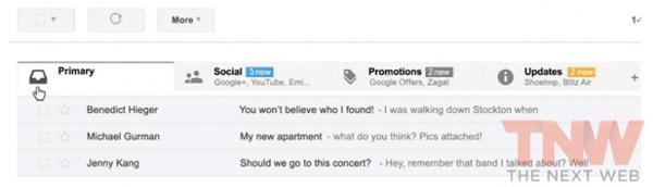 Primeras imágenes de la nueva versión de Gmail para Android con varias bandejas de entrada