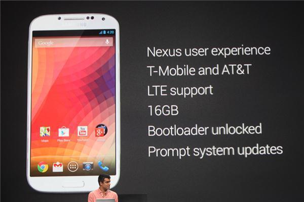 Presentación de la Google Edition del Samsung Galaxy S4