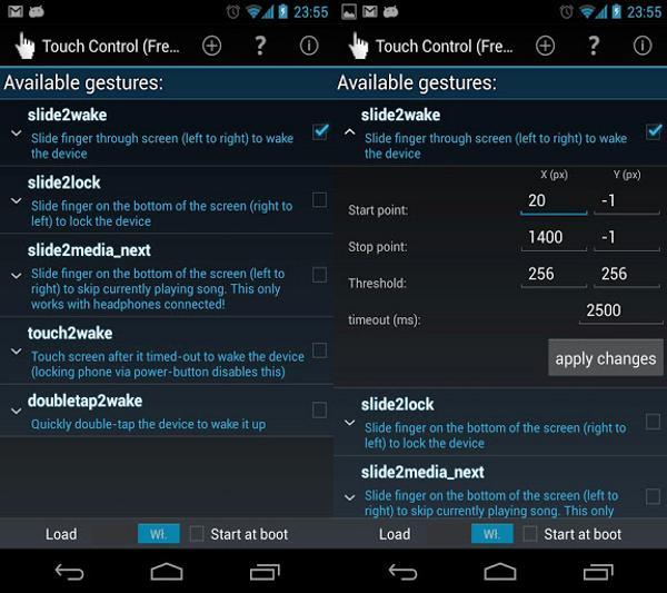 Capturas de pantalla de Touch Control