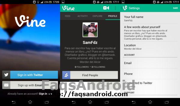 Capturas Vine para Android 1