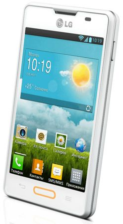 LG Optimus L4 II blanco frontal