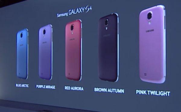 Nuevos colores Samsung Galaxy S4