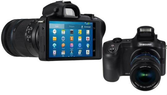 Samsung Galaxy NX frontal y trasera