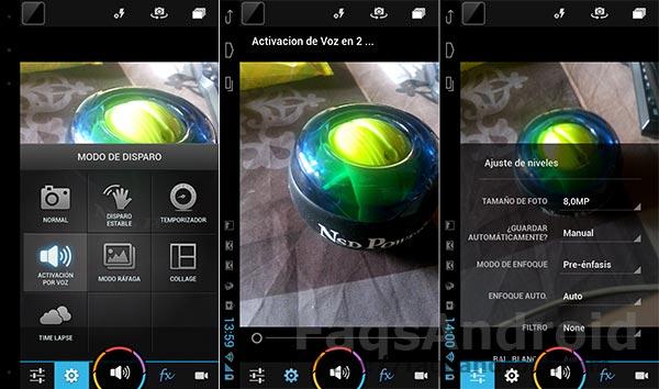 Cinco aplicaciones de cámara con disparo activado por voz