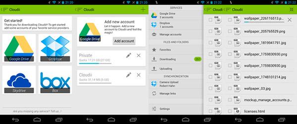 Google Drive, Skydrive, Box.com y Dropbox