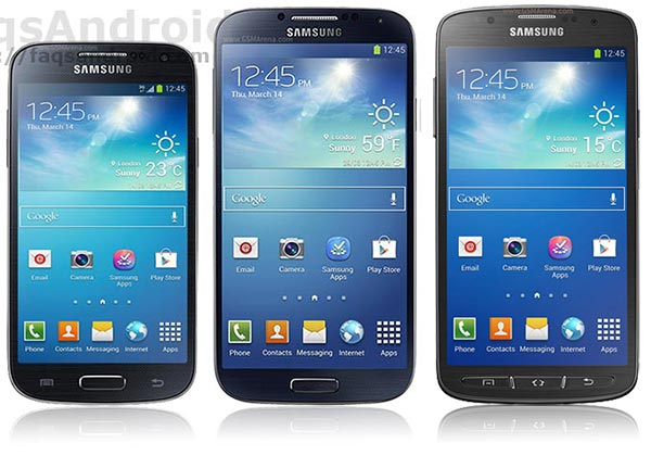 Tabla comparativa Samsung Galaxy S4 vs S4 Mini vs S4 Active