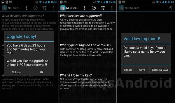 Desbloquea tu móvil o tablet Android con NFC vía NFCSecure