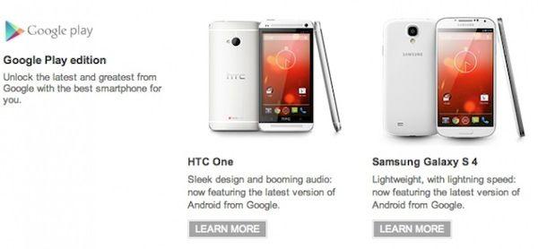 Los teléfonos Google Play Edition