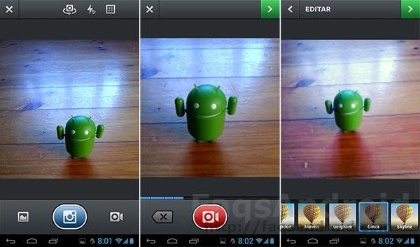 Instagram para Android ya permite la grabación de vídeos