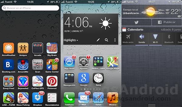 """5 cosas que iOS 7 debería de """"robarle"""" a Android"""