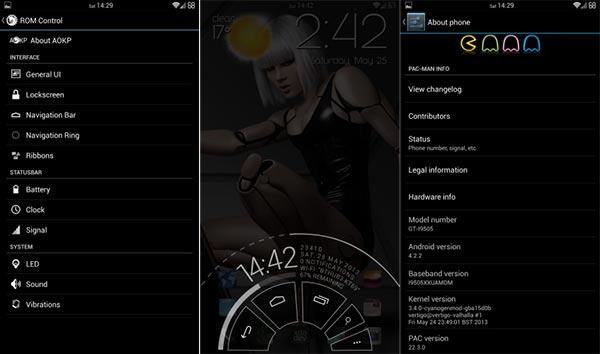 Cinco ROMs recomendadas para el Samsung Galaxy S4: PacMan