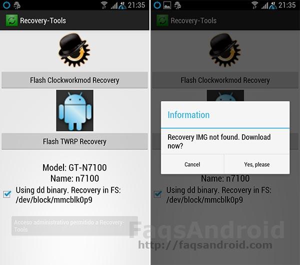 Instala el Custom Recovery más adecuado para tu móvil con 1 click
