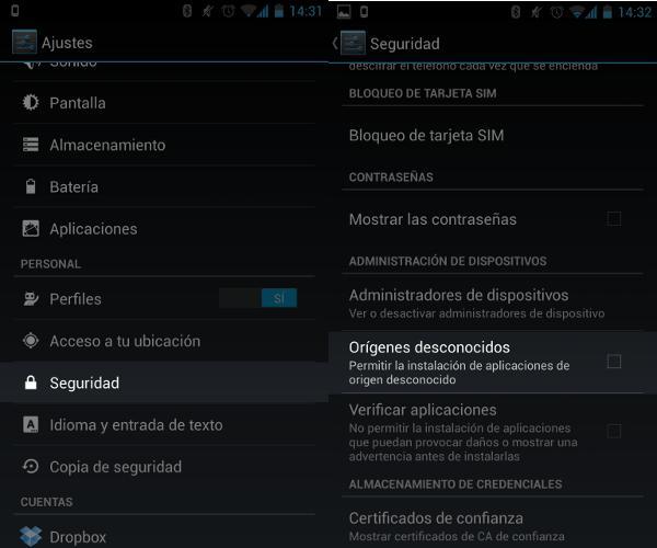 Cómo permitir la instalación de aplicaciones desde fuera de la Play Store