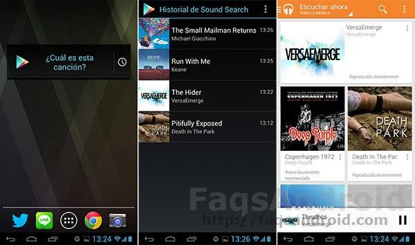 El widget de Sound Search para Google Play Music ya disponible