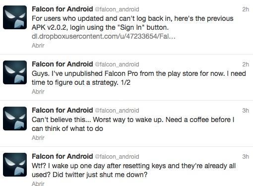 Twitter oficial de Falcon Pro