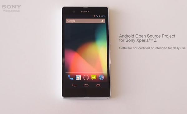 Nuevos rumores del Sony Xperia Z stock Android con ROM AOSP