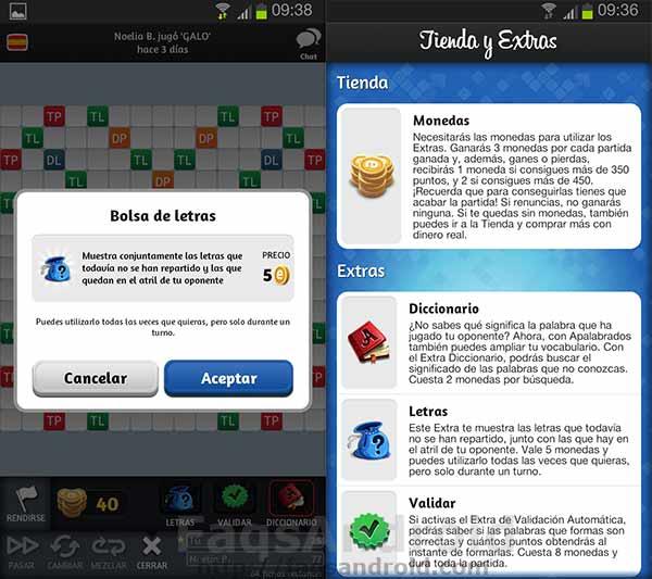 El juego Android Apalabrados se actualiza a la versión 2.0