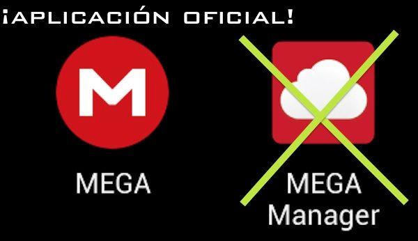 Aplicación oficial de MEGA en la Google Play Store